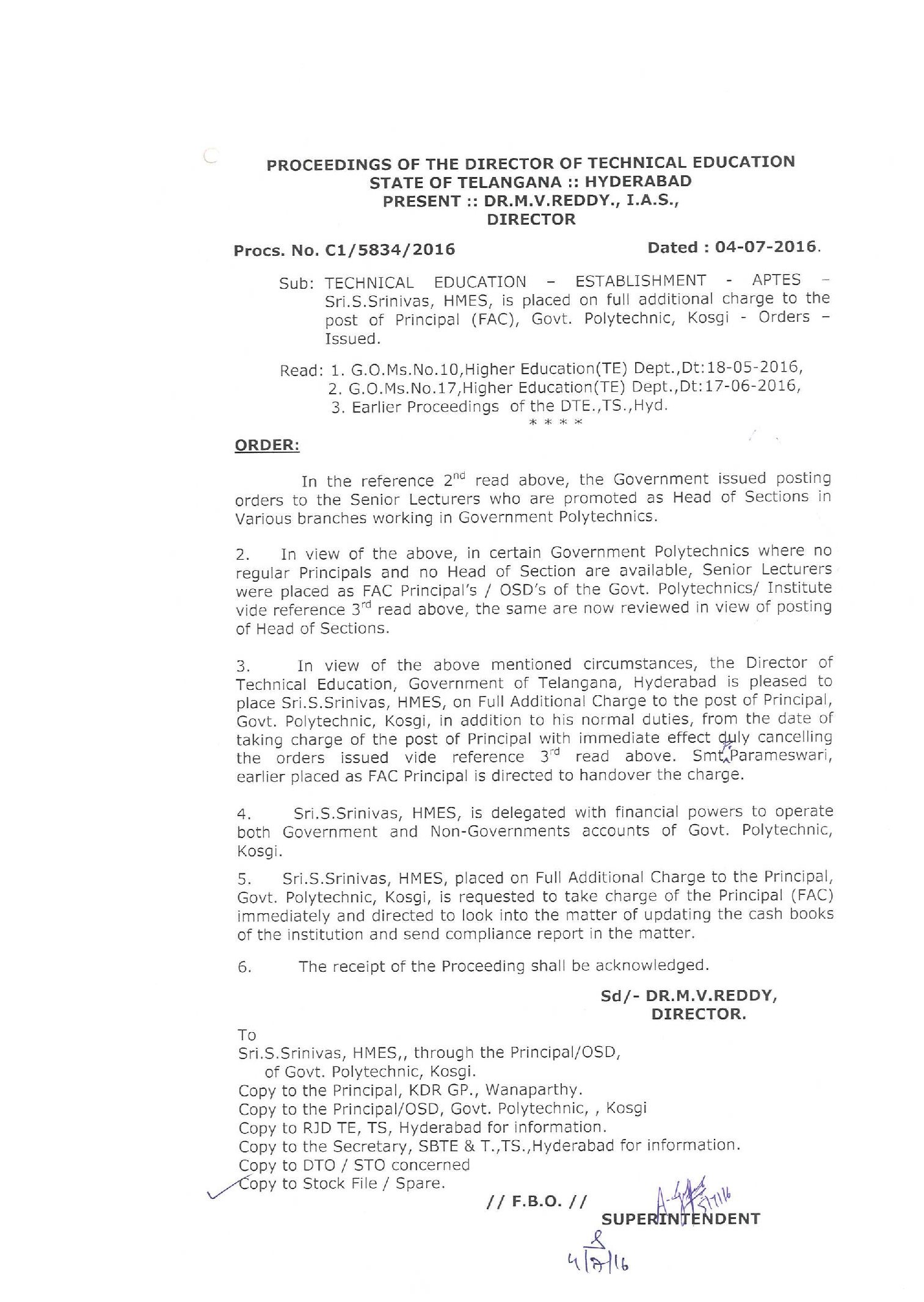 DTE:: Department of Technical Education , Telangana
